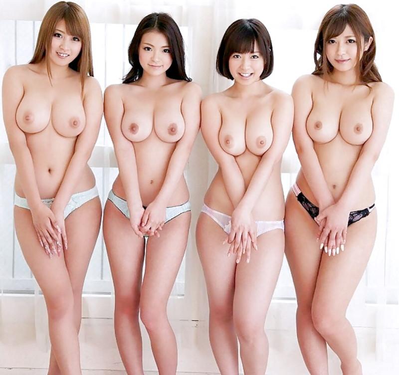北川瞳さんを筆頭に並んで見せてくれた巨乳に目が離せない!