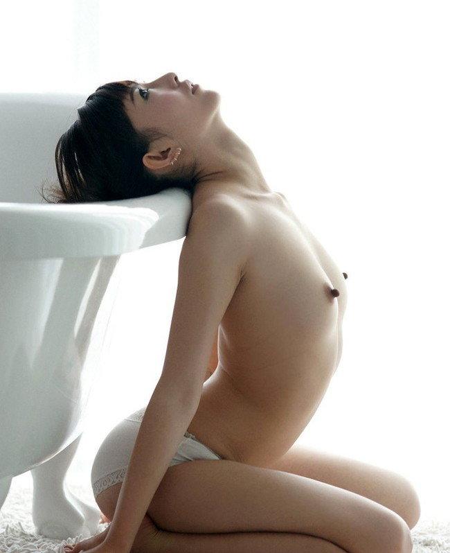 【貧乳エロ画像】横アングルのちっぱいにはスマートな美しさがある!(29枚)