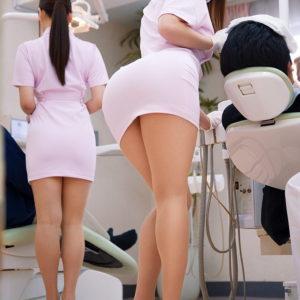 【歯医者エロ画像】歯科衛生士の治療中にはパンチラとおっぱいに期待しちゃう貴方に…(17枚)