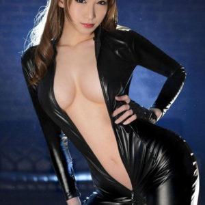 【キャットスーツエロ画像】女捜査官がキャトスーツで輪姦されてたり肌露出させたりしてるエロ画像!(26枚)